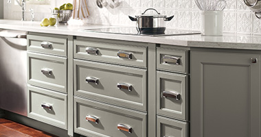 <p>Designed to be accessible, priced to be attainable, and constructed to be sustainable – affordable kitchen and bathroom cabinets from Homecrest® make your ideas a reality – transforming your space into a happier, more organized home.</p>