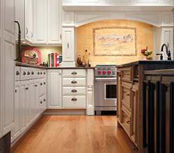 Dynasty Cabinetry  Style: Casual  Material: Maple  Finish: Oyster and Chestnut