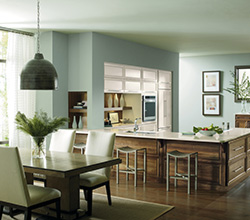 Dynasty Cabinetry  Style: Contemporary Riff  Material: Walnut  Finish: Natural