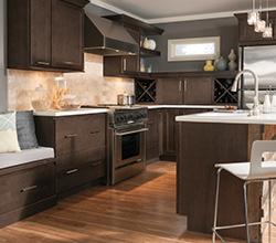 Homecrest Verano Dark Wood Cabinets